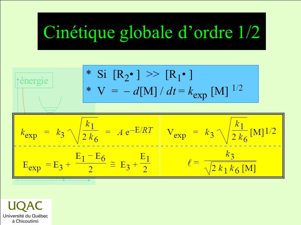 Cinétique globale d'ordre 1/2