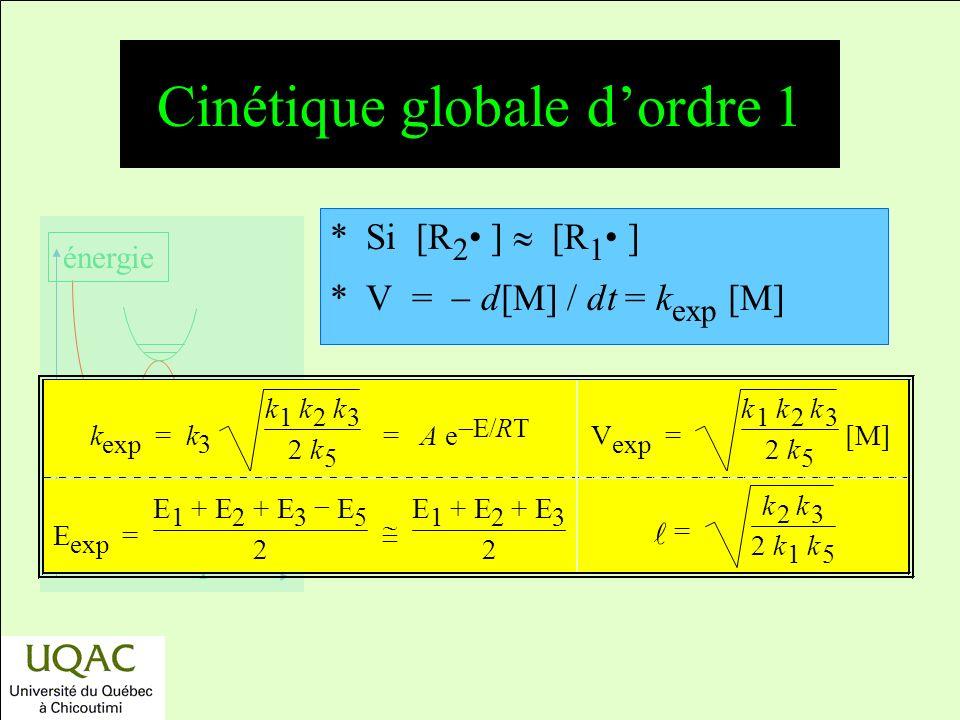 Cinétique globale d'ordre 1