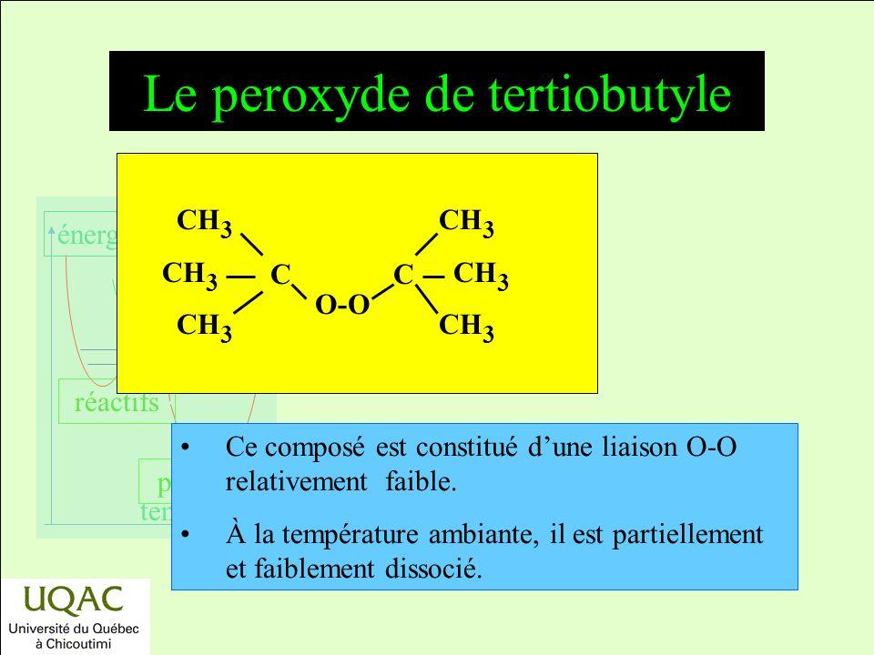 Le peroxyde de tertiobutyle