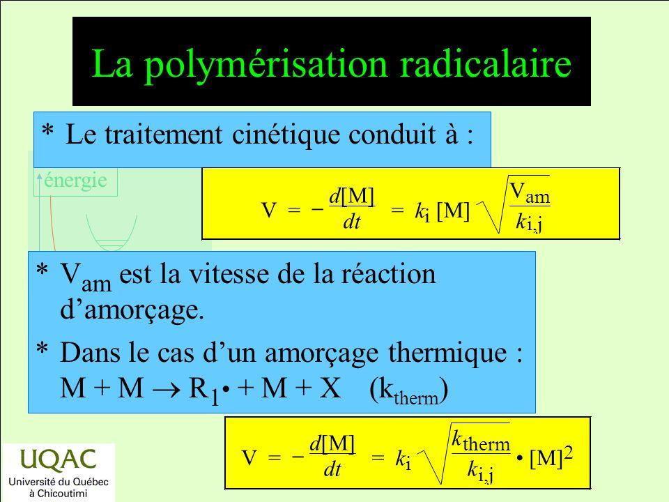 La polymérisation radicalaire