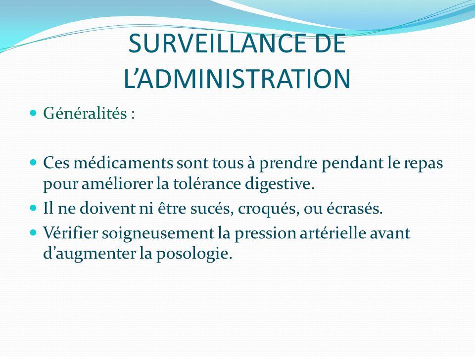 SURVEILLANCE DE L'ADMINISTRATION