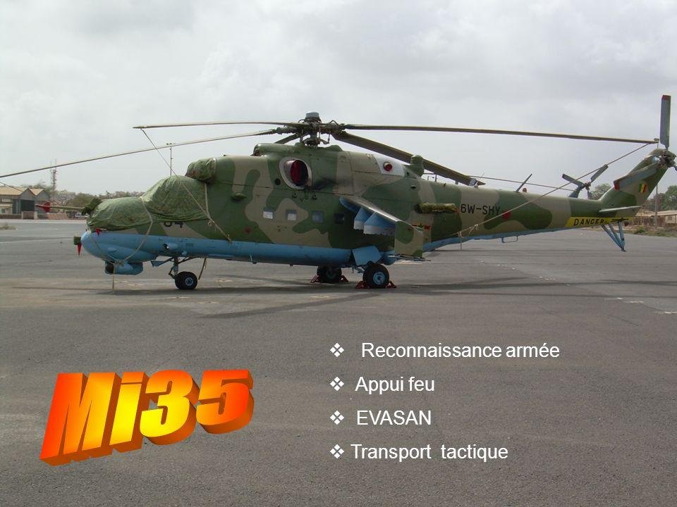 Reconnaissance armée Appui feu EVASAN Transport tactique Mi35