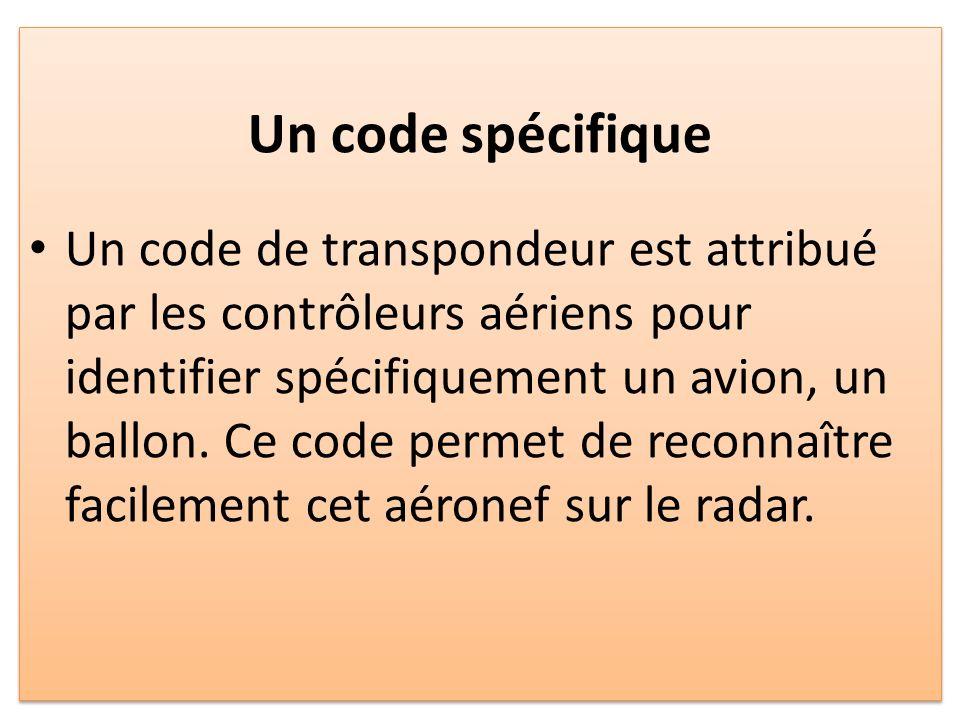 Un code spécifique