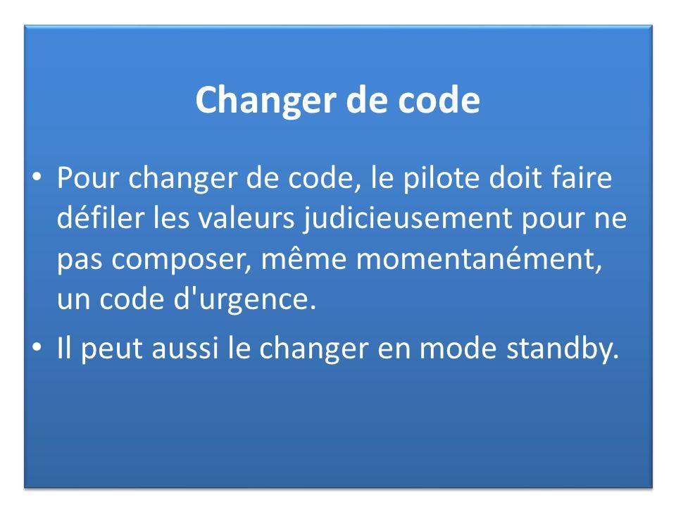 Changer de code