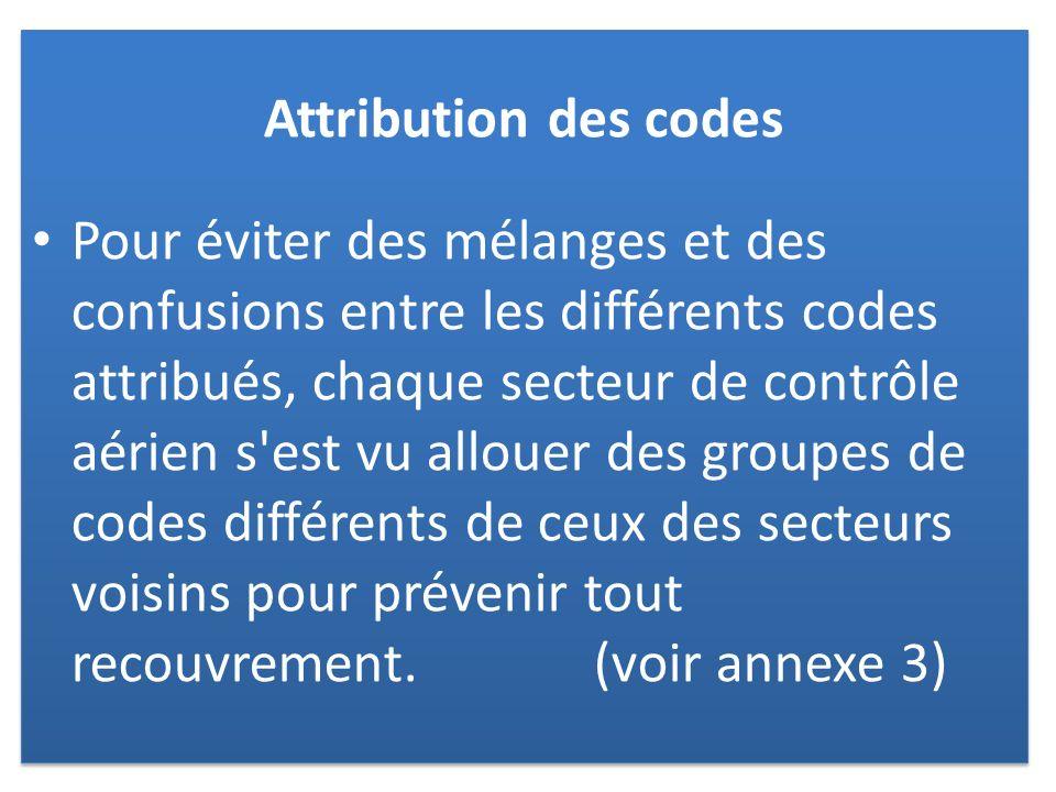 Attribution des codes