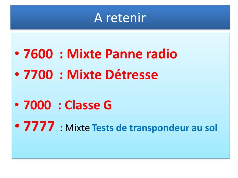7777 : Mixte Tests de transpondeur au sol