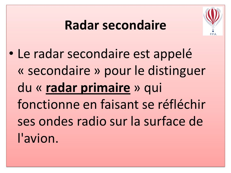 Radar secondaire