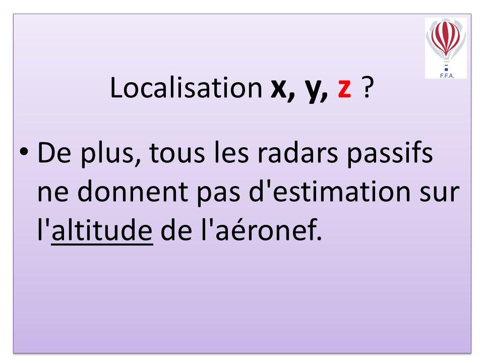Localisation x, y, z .