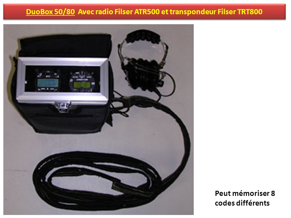 DuoBox 50/80 Avec radio Filser ATR500 et transpondeur Filser TRT800
