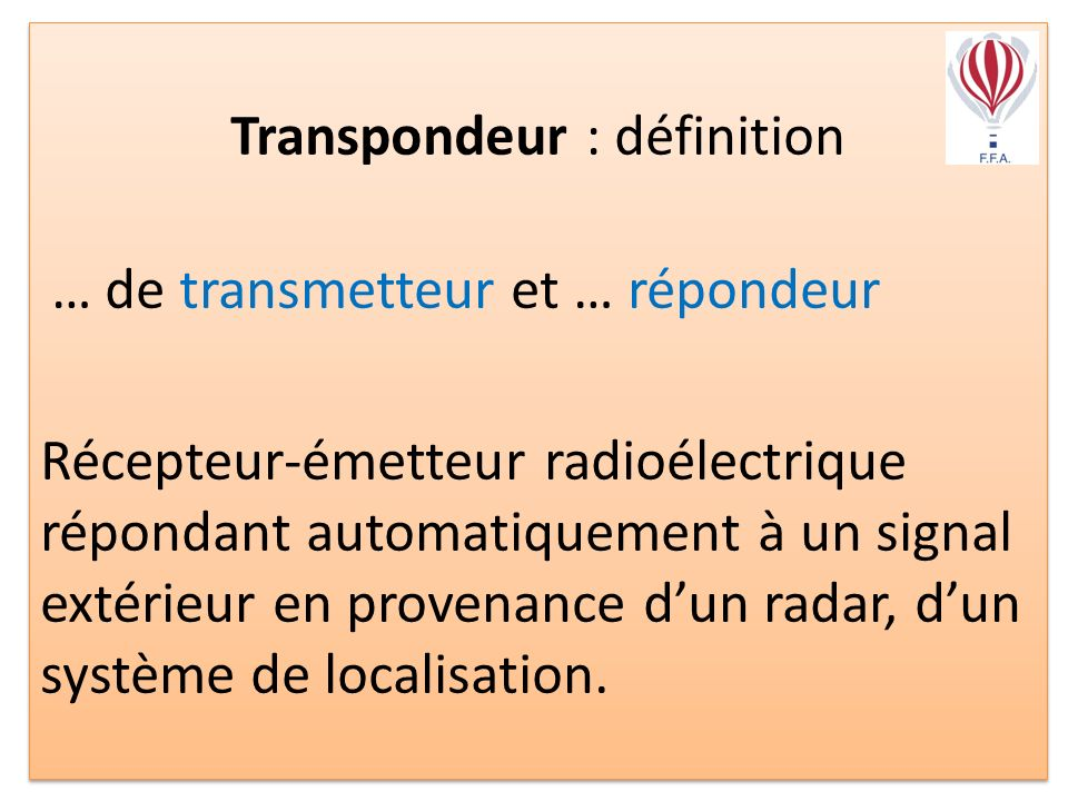 Transpondeur : définition