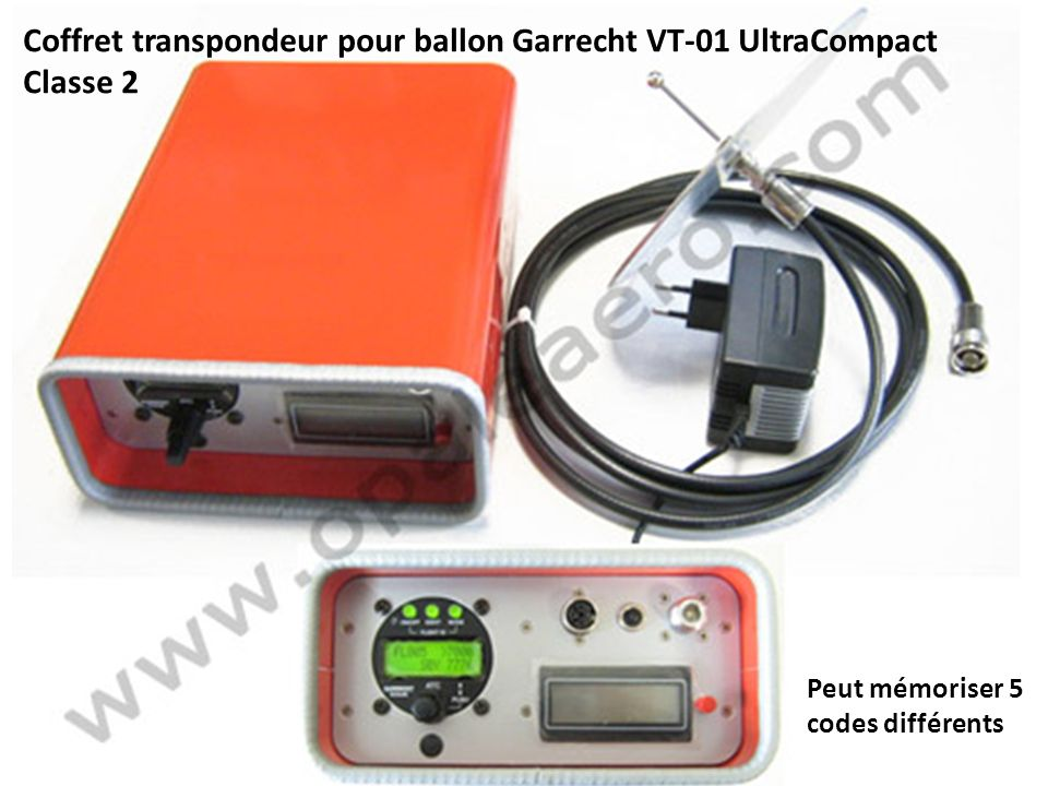 Coffret transpondeur pour ballon Garrecht VT-01 UltraCompact Classe 2