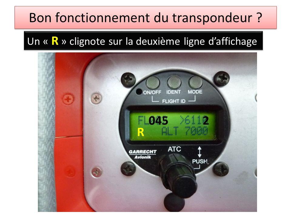 Bon fonctionnement du transpondeur