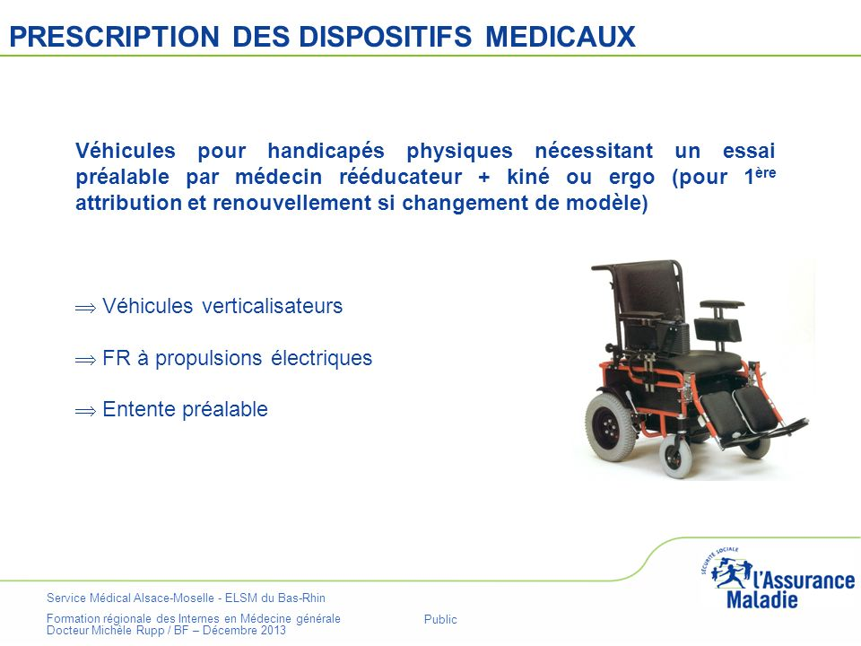 PRESCRIPTION DES DISPOSITIFS MEDICAUX