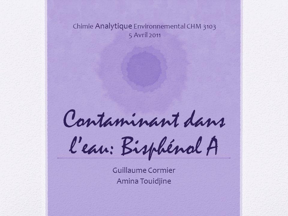 Contaminant dans l'eau: Bisphénol A