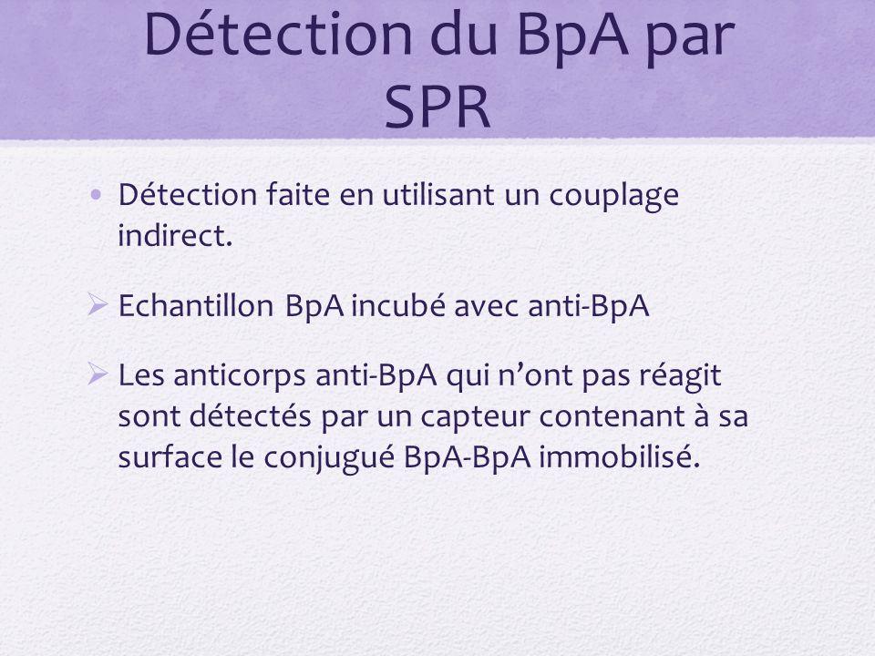 Détection du BpA par SPR