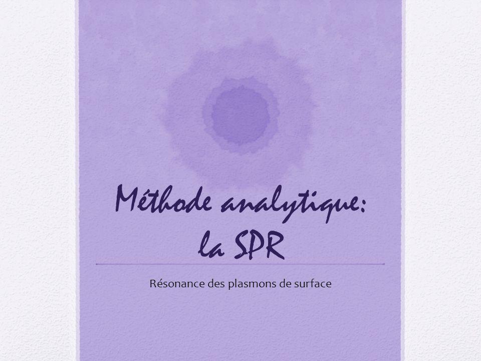 Méthode analytique: la SPR