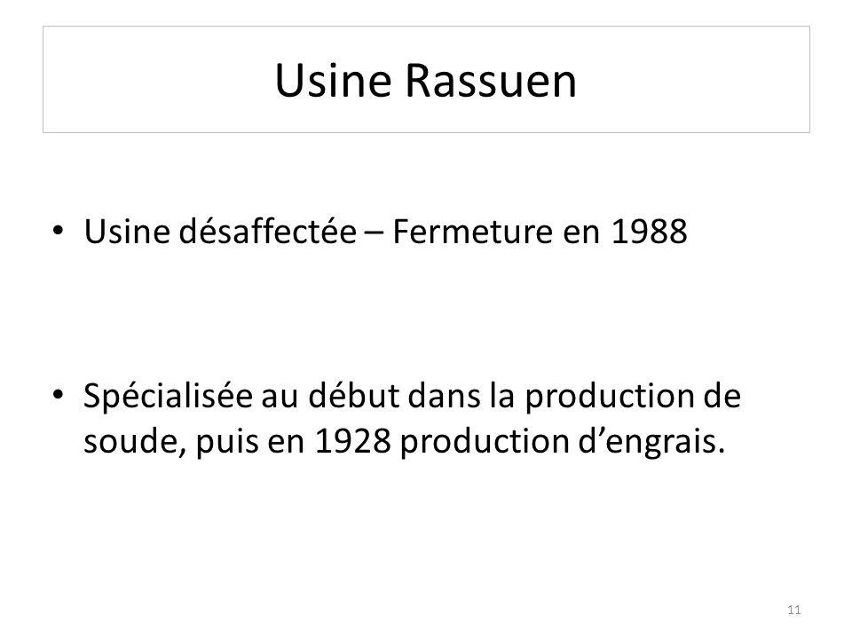 Usine Rassuen Usine désaffectée – Fermeture en 1988
