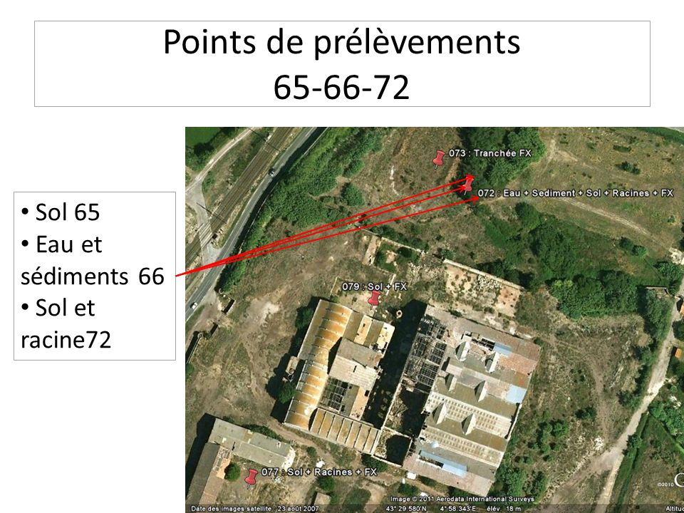 Points de prélèvements 65-66-72