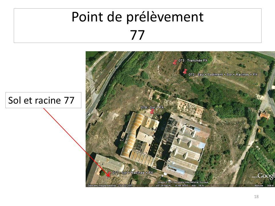 Point de prélèvement 77 Sol et racine 77