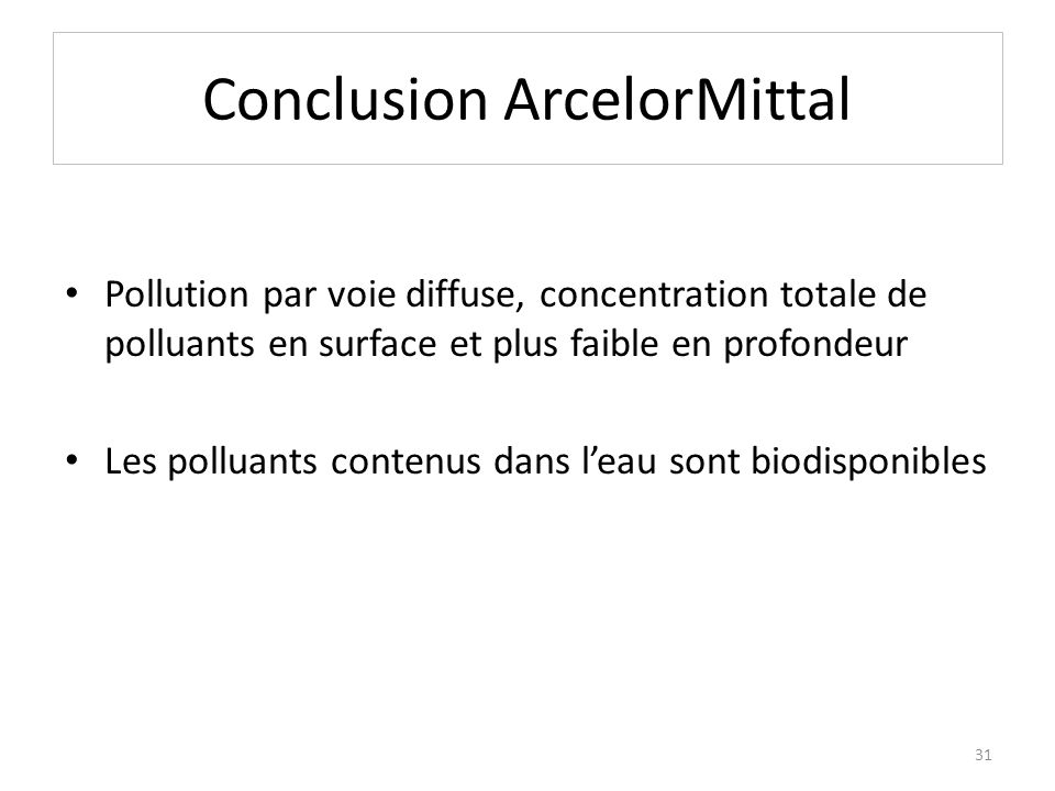 Conclusion ArcelorMittal