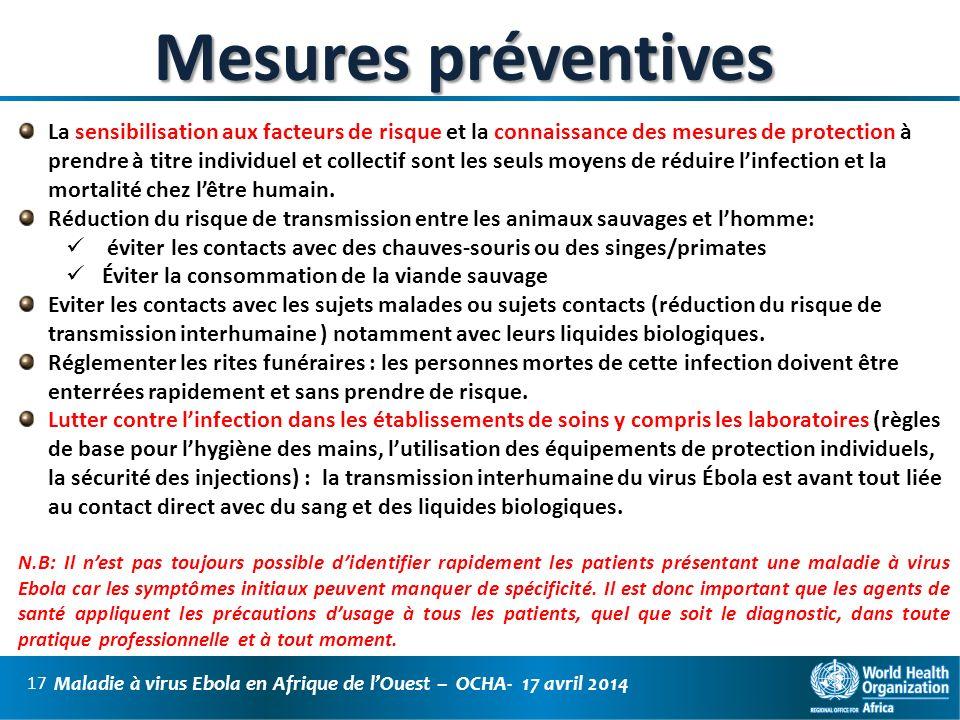 Mesures préventives
