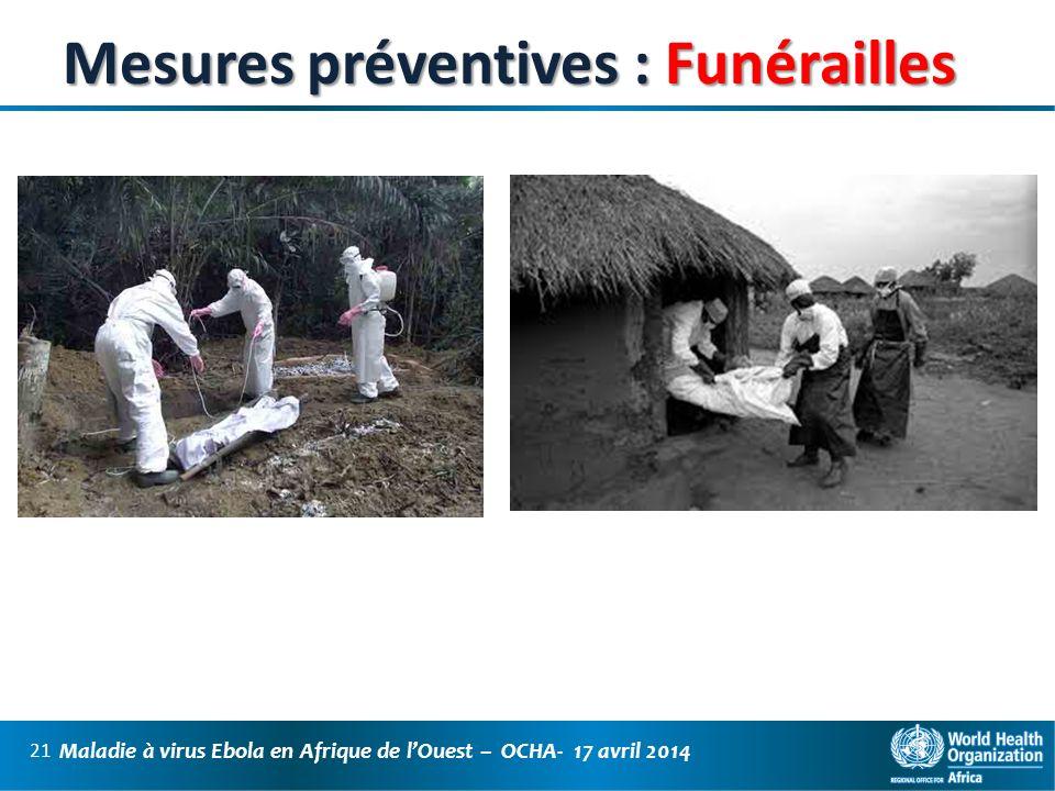 Mesures préventives : Funérailles
