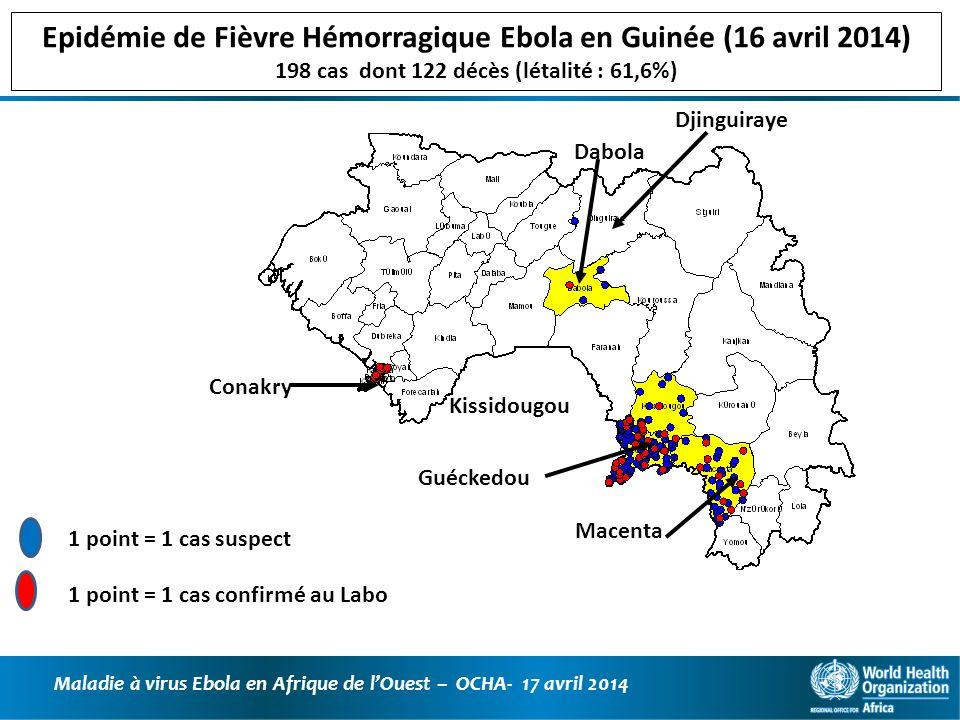 Epidémie de Fièvre Hémorragique Ebola en Guinée (16 avril 2014)