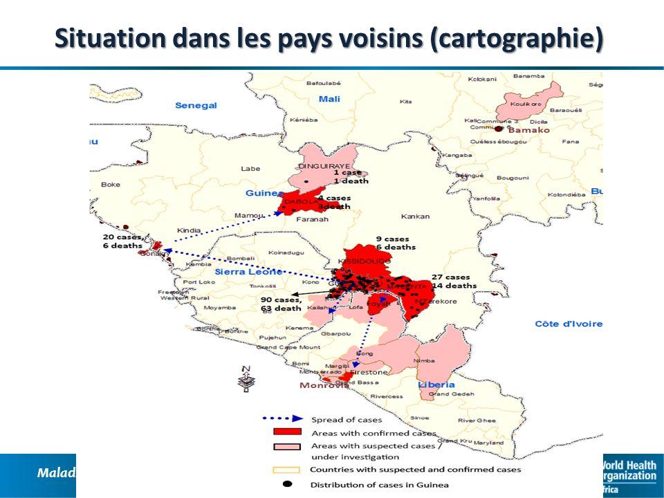 Situation dans les pays voisins (cartographie)