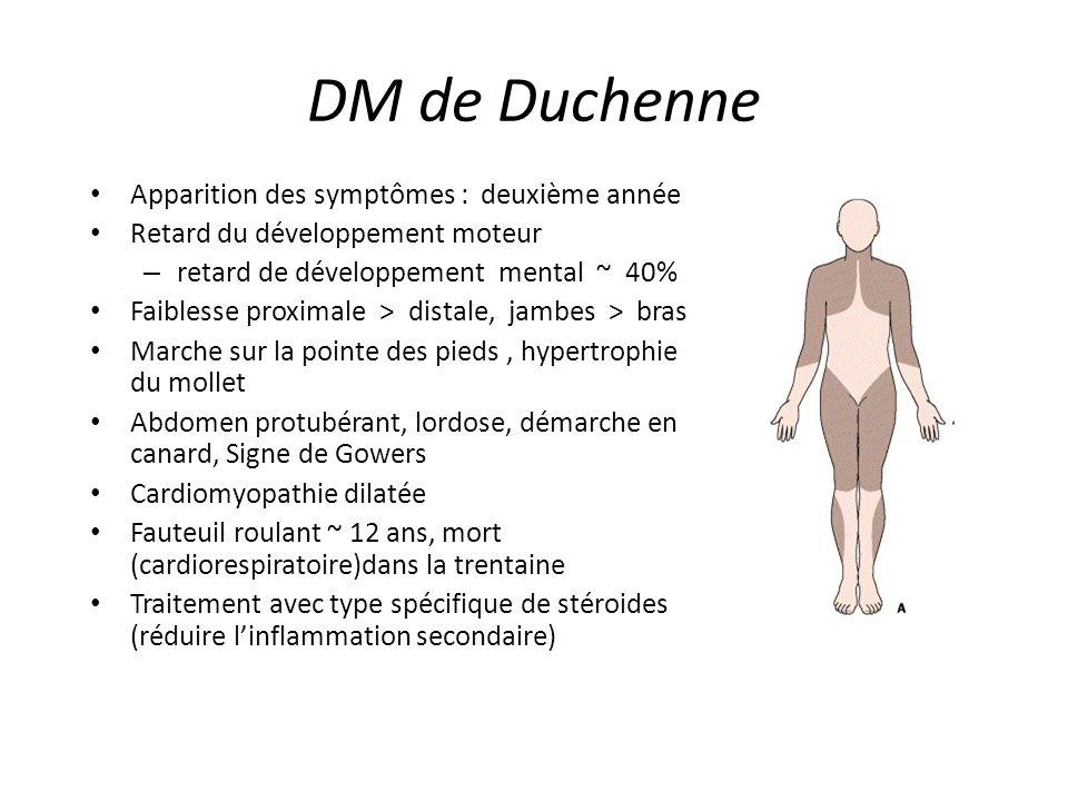 DM de Duchenne Apparition des symptômes : deuxième année