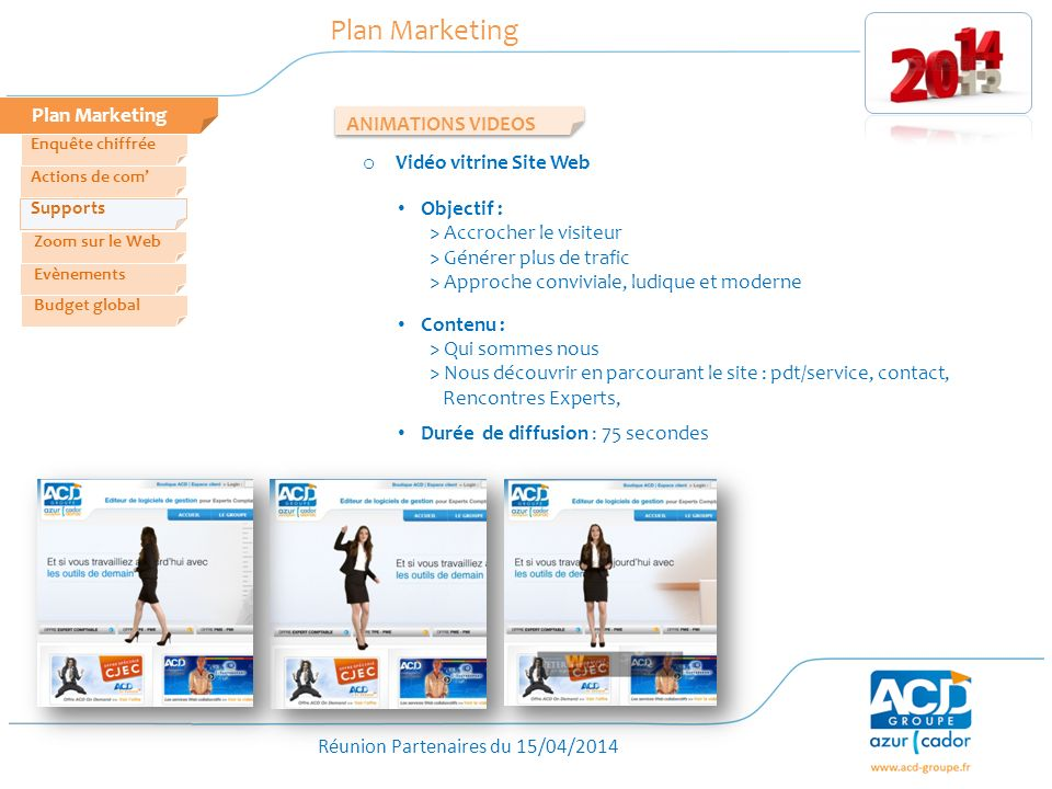 Plan Marketing Plan Marketing ANIMATIONS VIDEOS Vidéo vitrine Site Web