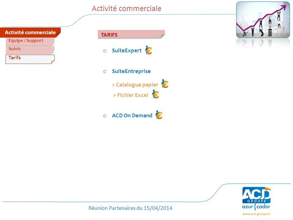 Activité commerciale Activité commerciale TARIFS SuiteExpert