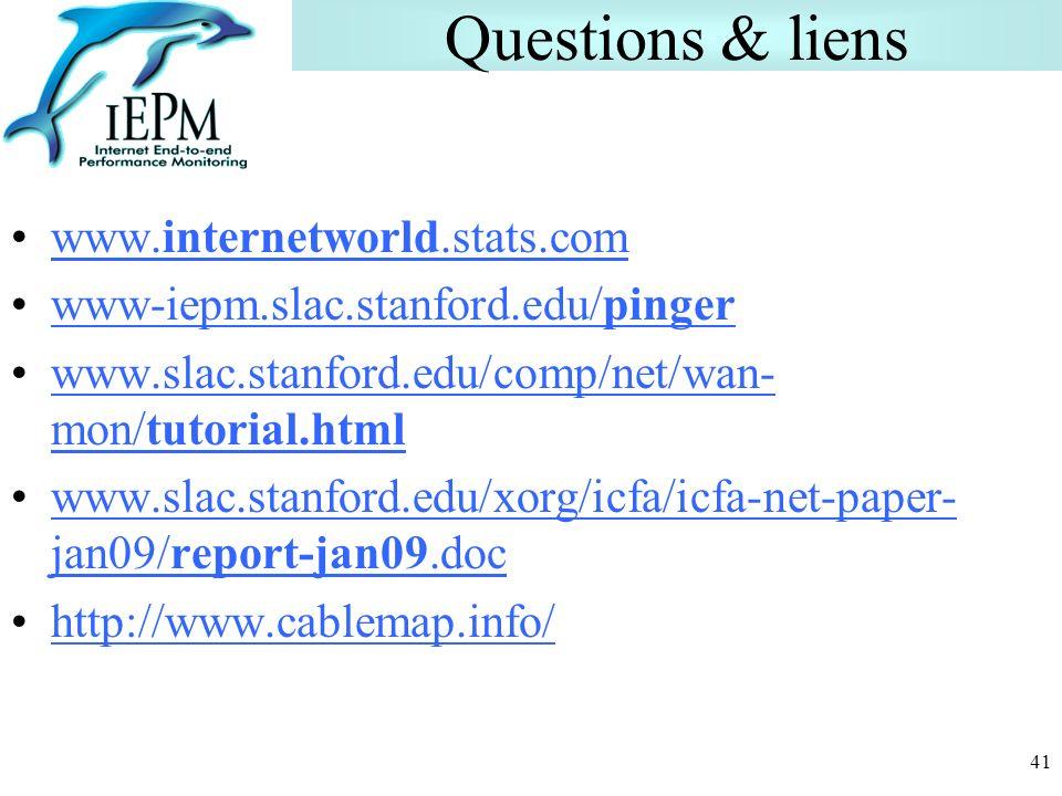 Questions & liens www.internetworld.stats.com