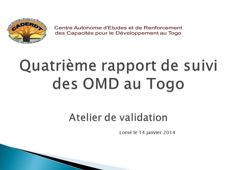 Quatrième rapport de suivi des OMD au Togo Atelier de validation