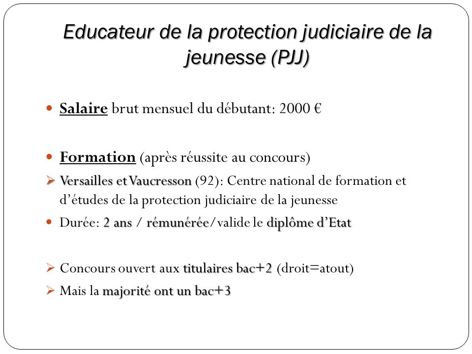 Educateur de la protection judiciaire de la jeunesse (PJJ)