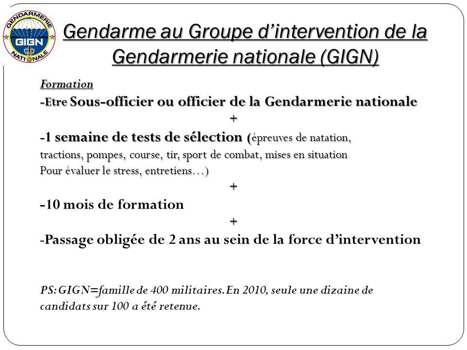 Gendarme au Groupe d'intervention de la Gendarmerie nationale (GIGN)