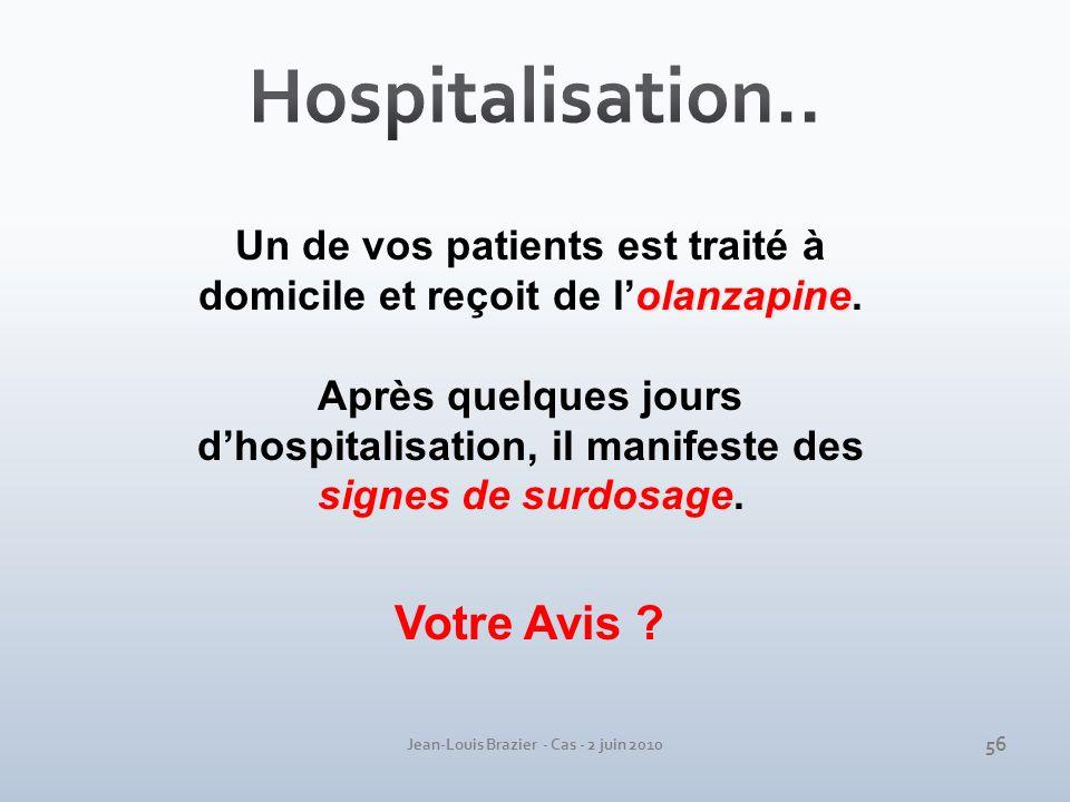Hospitalisation.. Votre Avis