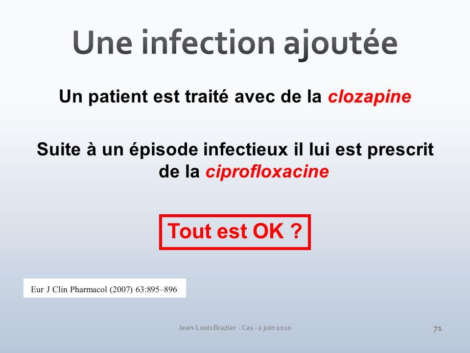Une infection ajoutée Tout est OK