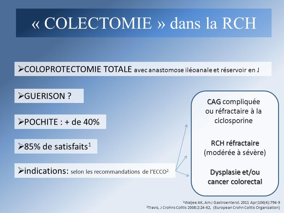 « COLECTOMIE » dans la RCH