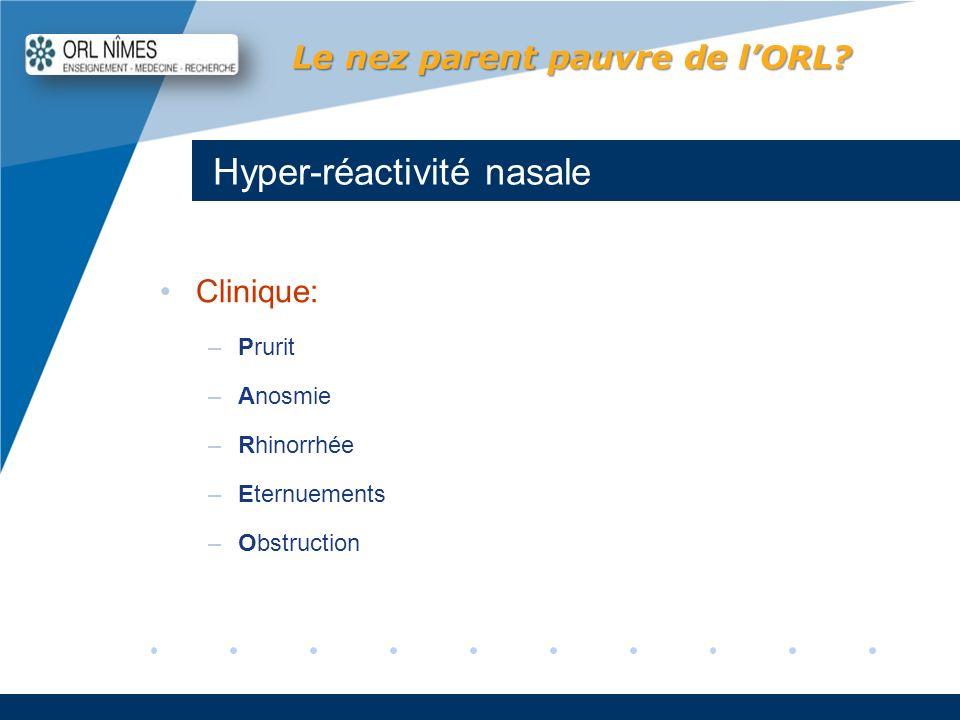Hyper-réactivité nasale