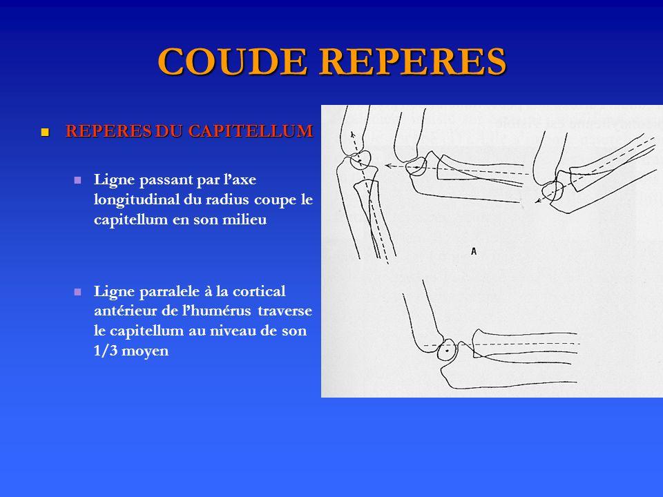 COUDE REPERES REPERES DU CAPITELLUM