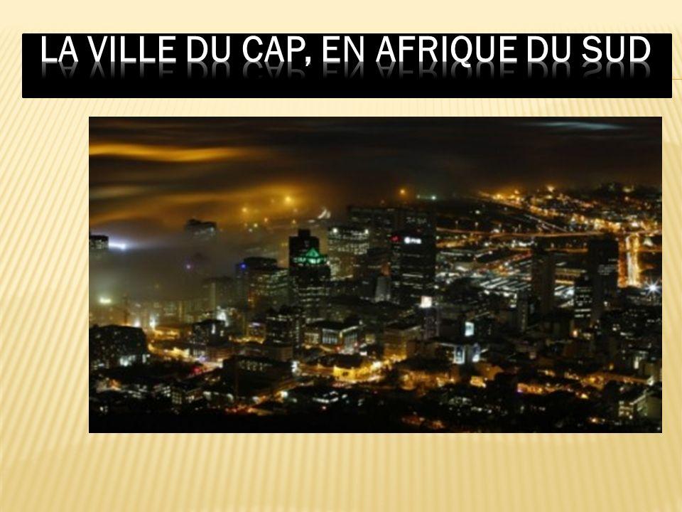 La ville du Cap, en Afrique du Sud