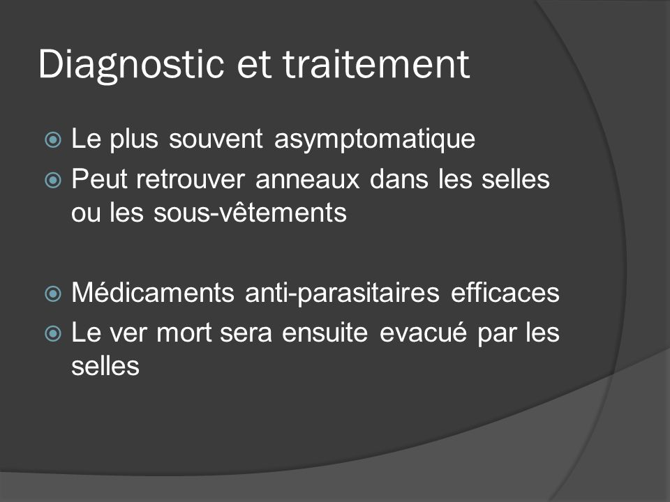 Diagnostic et traitement