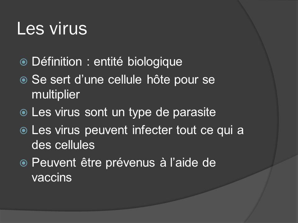 Les virus Définition : entité biologique