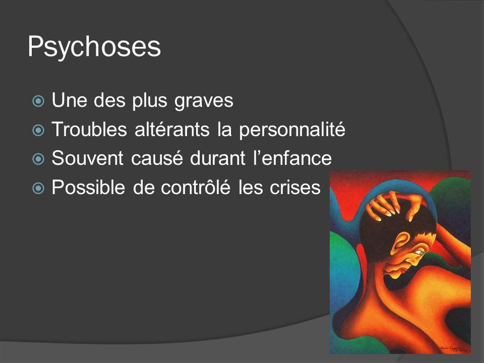 Psychoses Une des plus graves Troubles altérants la personnalité