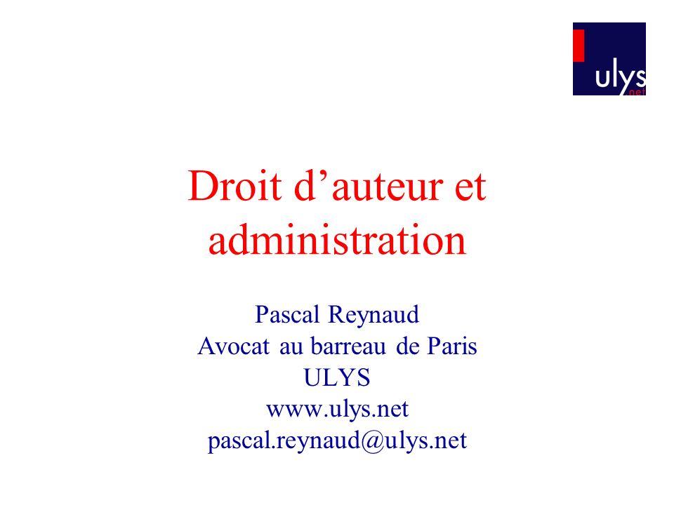 Droit d'auteur et administration