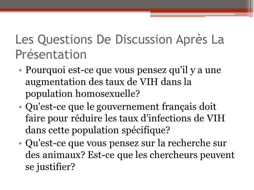 Les Questions De Discussion Après La Présentation