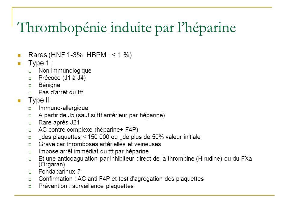 Thrombopénie induite par l'héparine