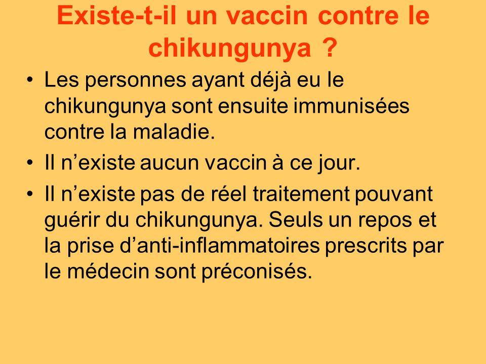 Existe-t-il un vaccin contre le chikungunya