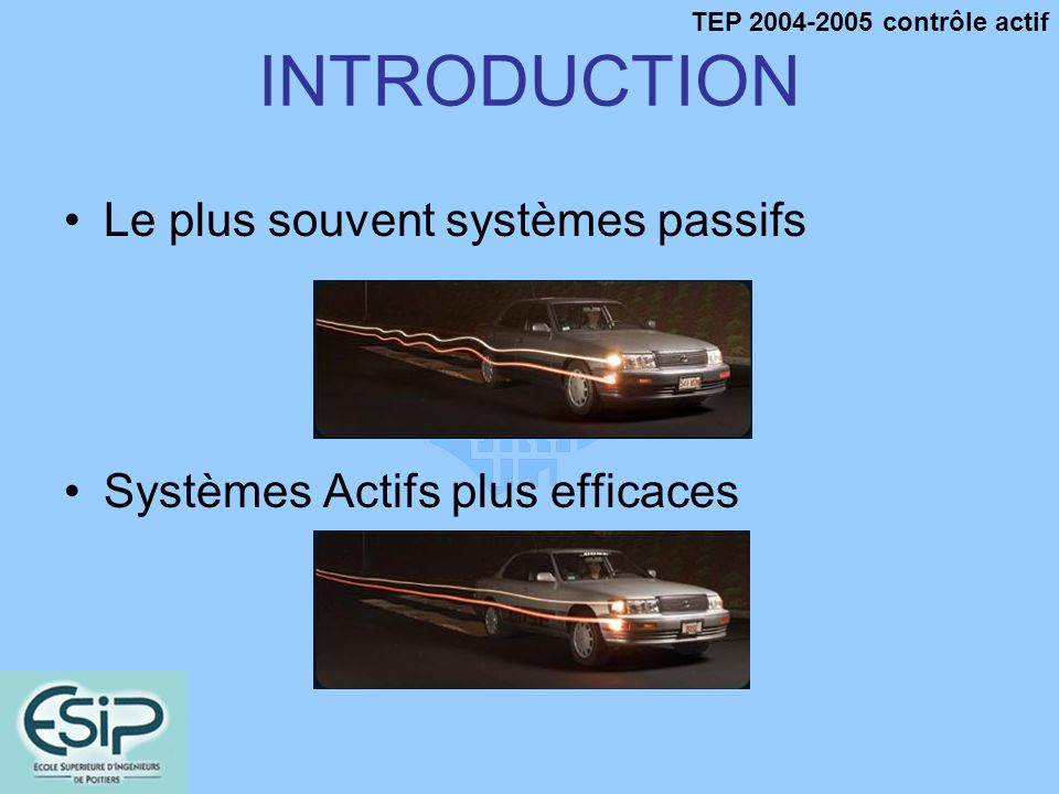 INTRODUCTION Le plus souvent systèmes passifs
