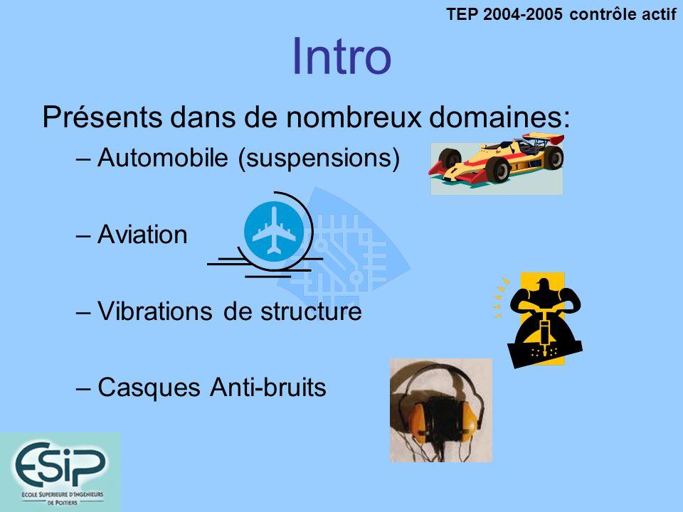 Intro Présents dans de nombreux domaines: Automobile (suspensions)